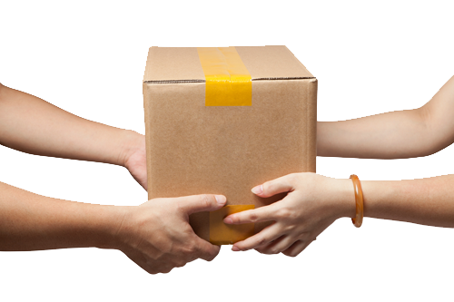 Your large item delivery will arrive safe and sound for you to take.